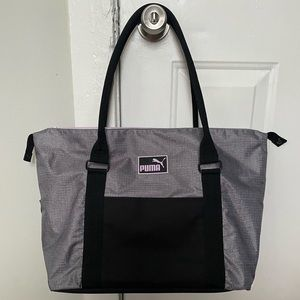 Puma Gym Travel Duffle Bag Grey Violet Purple